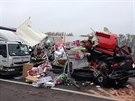 Smrtelná nehoda kamionů u Hořovic