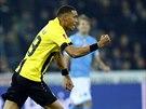 Guillaume Hoarrau, fotbalista �v�carsk�ho klubu Young Boys Bern, se raduje z...