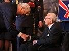 Prezident Miloš Zeman předal Řád bílého lva Siru Nicholasi Wintonovi.