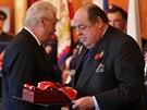 Prezident Zeman předal Řád bílého lva Winstonu Churchillovi in memoriam, který...