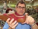 Takhle vypadá bota krátce poté, co k ní ševci přišili podešev.