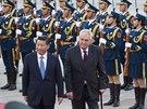 Prezident Miloš Zeman na návštěvě Čínské lidové republiky (26. října 2014)