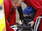 Pětiletý britský chlapec Ashya King po poslední dávce ozařování (24. října...