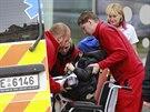 Pětiletý britský chlapec Ashya King odjíždí z Protonového centra Praha (24....