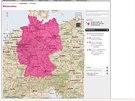 Pokrytí signálem všech datových (2G, 3G a 4G) sítí v Německu u operátora...