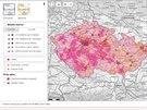 Pokrytí signálem všech datových (2G, 3G a 4G) sítí v České republice u...