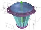 Dropion 2.0 navrhnut� ve 3D softwaru Rhinoceros.