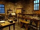 Pohled do zrekonstruovaného interiéru p�vodní továrny. Dnes slou�í jako muzeum....