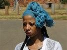 Kelly Khumalová, přítelkyně kapitána jihoafrické fotbalové reprezentace. Senzo