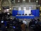 Vedení města New York potvrdilo první případ eboly ve městě. Tisková konference...