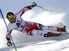 Marcel Hirscher během obřího slalomu v Söldenu,