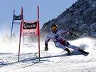 Marcel Hirscher během obřího slalomu v Söldenu.