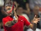 Roger Federer ve finále turnaje v Basileji