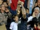 Mauro Icardi z Interu Milán se raduje ze vstřelené branky.