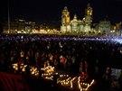 Najděte zmizelé studenty, požadují lidé po celém Mexiku (Mexico City, 22. října 2014).