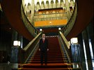 Tureck� prezident Recep Tayyip Erdogan v nov�m pal�ci v Anka�e (Turecko, 29....