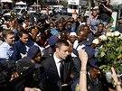 Jihoafrický atlet Oscar Pistorius dorazil k soudu, který rozhodne o výši jeho...