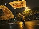 Příznivci brazilské prezidentky Dilmy Rousseffové se radují poté, co první...