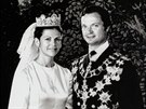 Švédský král Carl XVI. Gustaf a Silvia Sommerlathová se vzali 19. června 1976.