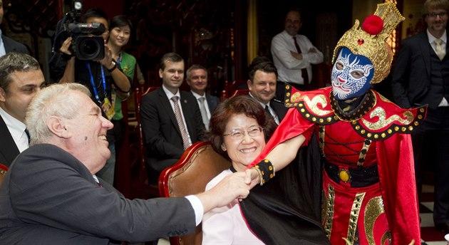 Prezident Milo� Zeman nav�tívil hlavní m�sto �ínské provincie S�-�chuan....