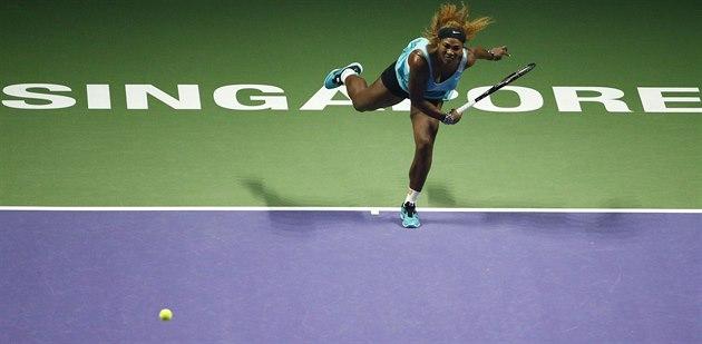 Serena Williamsová v utkání s Anou Ivanovi�ovou.