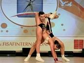 Brenton Andreoli a Kate�ina �mejkalová z Aerobic Dancers Kladno.