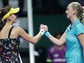 GRATULUJU. �eská tenistka Petra Kvitová prohrála na Turnaji mistry� s Polkou...