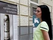 Výstava, která vzbudila vá�n�. N�kolik panel� popisujících situaci v...