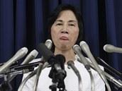 Dnes ji� b�val� ministryn� spravedlnosti Midori Matsushimaov�.