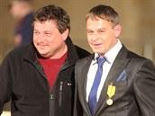 Ocen�ní re�isé�i Robert Sedlá�ek a Filip Ren�. (28. �íjna 2014)