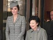 Vévodkyn� z Cambridge s první dámou Singapuru