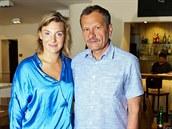 Lenka Krobotová se svým otcem Miroslavem Krobotem