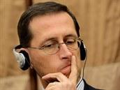 Mihaly Varga, maďarský ministr financí, na říjnovém setkání evropských ministrů...