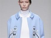 Pastelově modrý kabát Holly Fulton, kolekce podzim - zima 2014/2015
