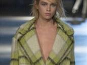 Kostkovaný maxi kabát Giles, kolekce podzim - zima 2014/2015