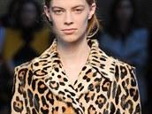 Kabát s leopardím vzorem Sportmax, kolekce podzim - zima 2014/2015