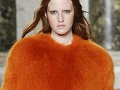 Oranžový kožich Emilio Pucci, kolekce podzim - zima 2014/2015