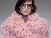 Pastelově růžový kabát Gucci, kolekce podzim - zima 2014/2015