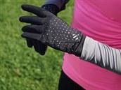 Rukavice – elegantní reflexní potisk a praktická kapsička...