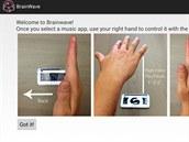 Pro ovl�d�n� hudebn�ho p�ehr�va�e prost�ednictv�m aplikace BrainWave v�m sta��...