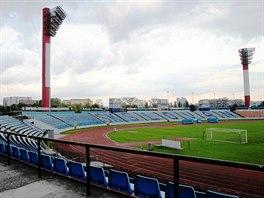 Stadion Pasienky, nepříliš vábné dějiště zápasu.