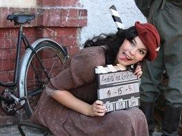 Z natáčení amatérského filmu Andělé na kolejích.
