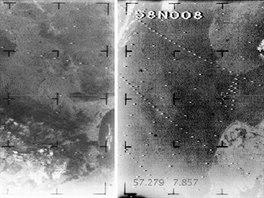 """Dva """"vesmírné"""" snímky Evropy z roku 1964. Vlevo jsou Pyreneje, tedy území Francie a Španělska (a Andorry, abychom nezapomněli). Vpravo je pak záběr na jižní část Norska, část Švédska sever Dánska."""