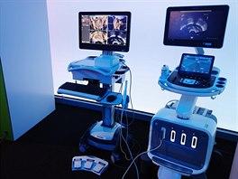 Systém UroNav pro cílenou biopsii (odběr vzorku tkáně). Speciální jehla je...