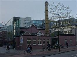 První továrna spol. Philips se nachází v centru Eindhovenu. Dnes je z ní muzeum.