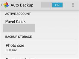 Mezi obl�ben� d�l�� funkce Google+ pat�� automatick� z�loha fotek (zde z mobilu...