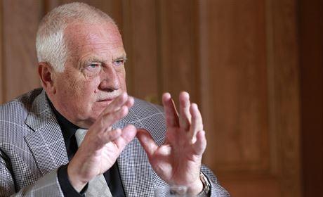 Exprezident Václav Klaus p�i rozhovoru pro MF DNES (27. �íjna 2014)