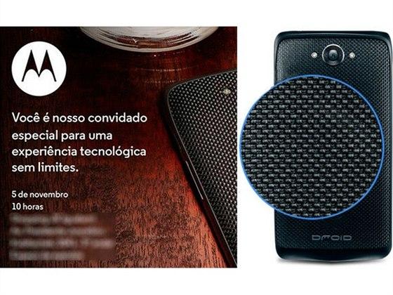 Pozvánka na brazilskou tiskovou konferenci Motoroly