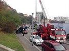 Kuri�zn� dopravn� nehoda v ulici Ve St�e�ovi�k�ch.
