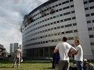 V pařížské budově, v níž sídlí francouzská veřejnoprávní rozhlasová stanice,...